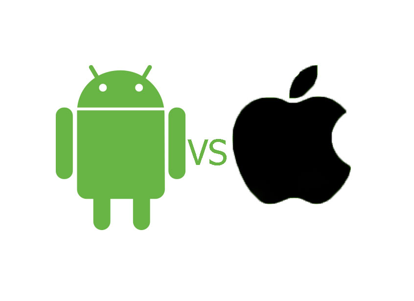 logo android dan iphone