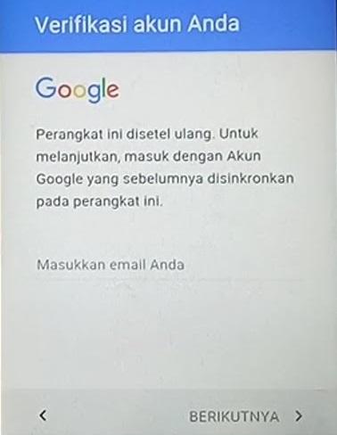 unlock google akun